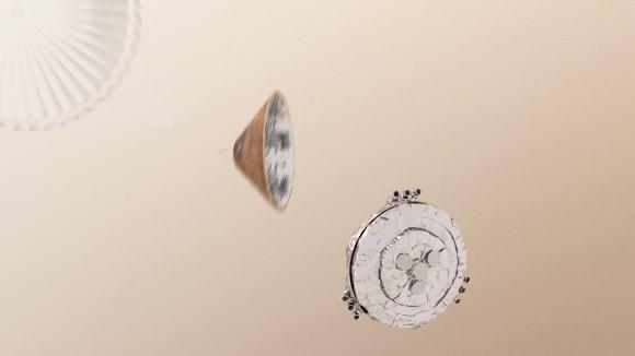 Area of landing of Schiaparelli in Meridiani Planum (ESA)